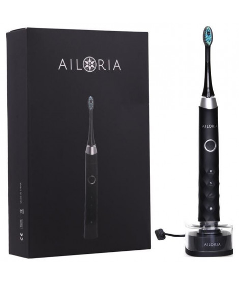AILORIA SHINE BRIGHT SB-171P 50345218 - Brosse a dents a technologie sonique USB - Noir et argent