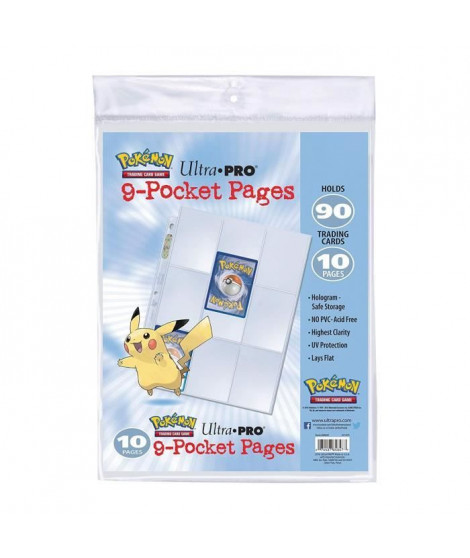 POKEMON - Lot de 10 Feuilles de classeur Pikachu - Cartes a collectionner