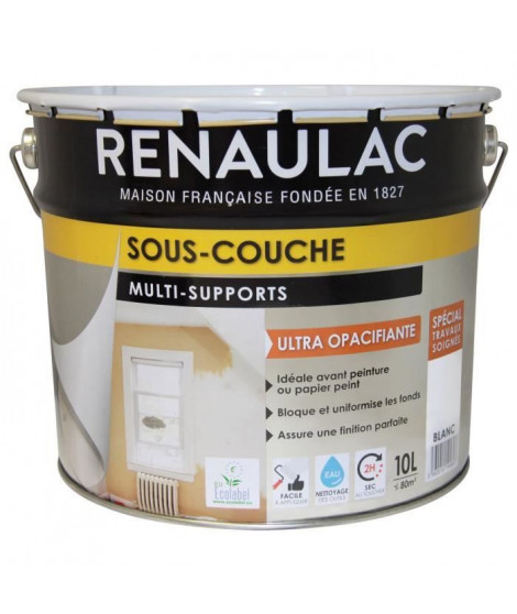 RENAULAC Sous-couche multi-supports - 10 L - Blanc