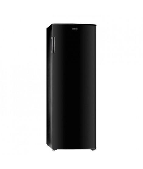 HAIER HUL-676B - Réfrigérateur 1 porte - 335L - Froid statique - A+ - L 60cm x H 170cm - Noir brillant