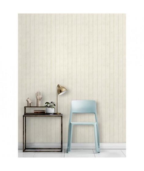 MGC DECO Papier peint déco - 10x0,53 m - Blanc