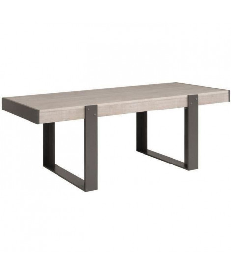 LOFT Table a manger de 8 a 10 personnes style contemporain décor bois naturel - L 224 x l 90 cm