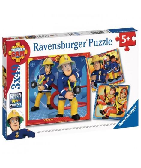 RAVENSBURGER - Puzzles 3x49 pieces Notre héros Sam le pompier