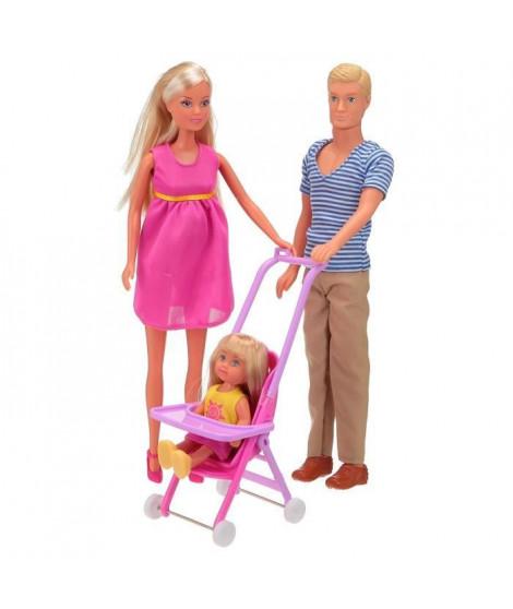 SIMBA Steffi Love Famille Heureuse + Accessoires