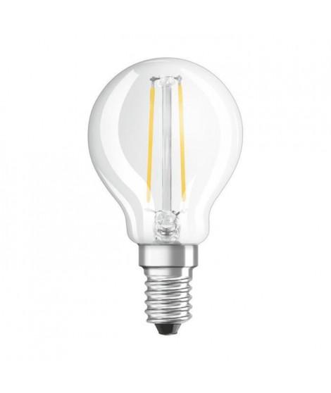 BELLALUX Lot de 6 Ampoules LED Sphérique clair fil 2,5W25 E14 chaud