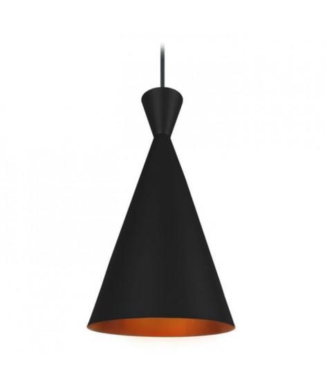 INDUS Supension en acier - Ø19 x H100 cm - Noir et Or - Style Nordique - E27 40W