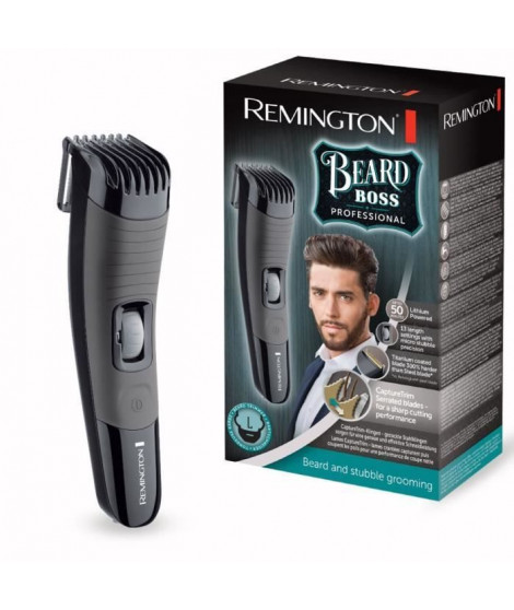 REMINGTON Tondeuse barbe revetement titanium - Rechargeable