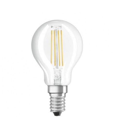 BELLALUX Lot de 6 Ampoules LED Sphérique clair filament 4W40 E14 chaud