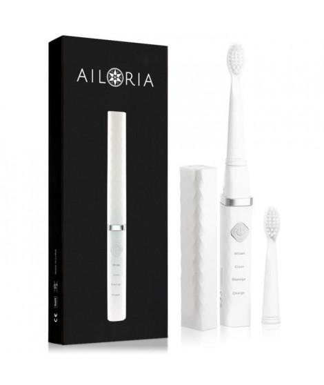 AILORIA FLASH TRAVEL FT-271W 50345221 - Brosse a dents de voyage a technologie sonique USB - Blanc et Argent