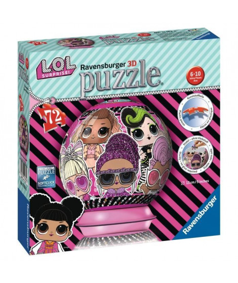 RAVENSBURGER - Puzzle 3D rond 72 pieces LOL Surprise