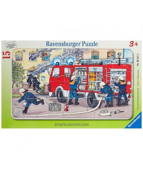 Puzzle Cadre Ma Voiture De Pompier 15pcs