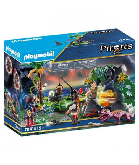 PLAYMOBIL 70414 - Les Pirates - Repaire du trésor des pirates  - Nouveauté 2020