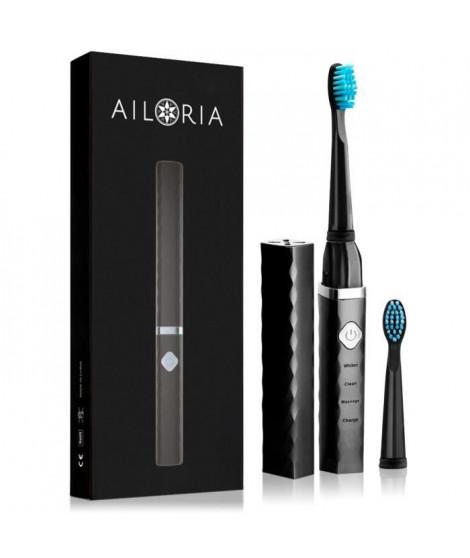AILORIA FLASH TRAVEL FT-271B 50345222 - Brosse a dents de voyage a technologie sonique USB - Noir et argent
