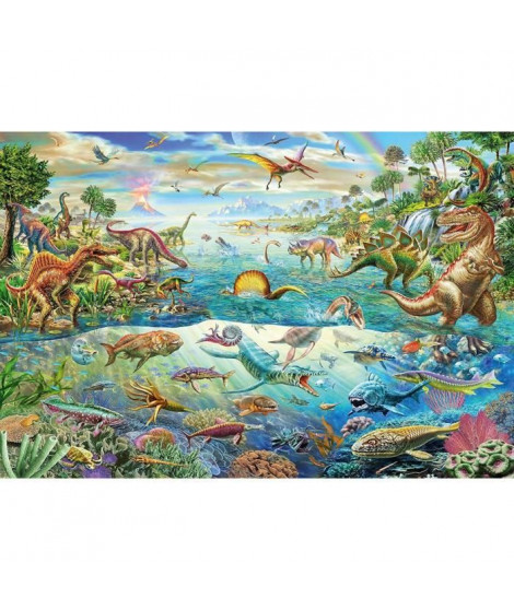 SCHMIDT SPIELE Puzzle Découvre les dinosaures - 200 pieces