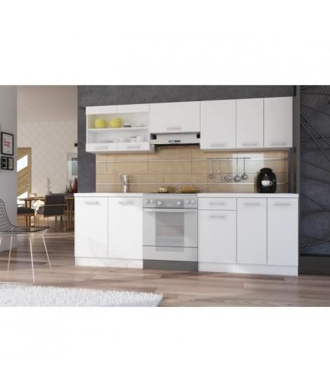 ULTRA Cuisine complete avec plan de travail L 2m40 - Blanc mat