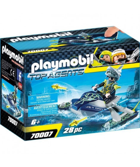 PLAYMOBIL 70007 - Top Agents - Scooter marin S.H.A.R.K Team