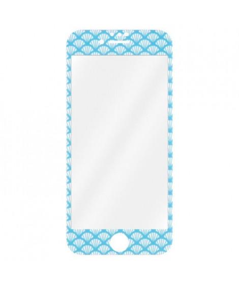 T'nB TGIPH8BL Protection verre trempé + accessoires Transparent/Bords bleu