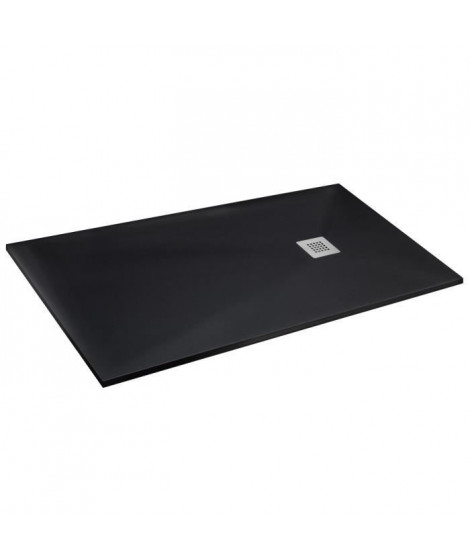 MITOLA Receveur de douche rectangulaire a poser Liwa - 140 x 90 cm - Résine composite - Noir