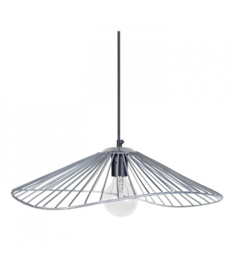 LADY Lustre - suspension filaire 50x44x13 cm grise E27 40W
