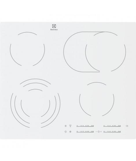 ELECTROLUX - EHF6547IW1 - Table de cuisson vitrocéramique - 4 foyers - 7100W - L59cm x P52cm - Blanc