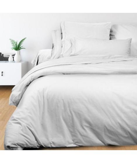 SOLEIL d'OCRE Housse de couette Camille - Coton percale - 220 x 240 cm - Blanc