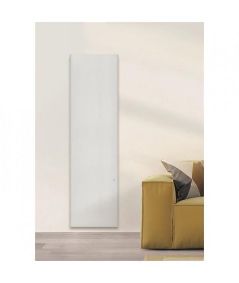 AIRELEC COXY A694215 Radiateur a Inertie Réfractite - Vertical 1500W - Coloris Blanc - Fabrication Française - Programmable