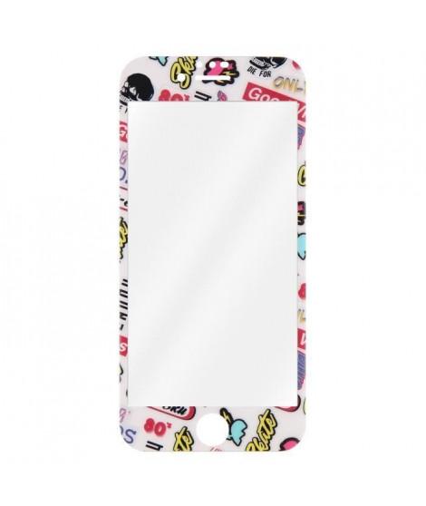T'nB TGIPH8STICK Protection verre trempé + accessoires Transparent/Bords design Sticker