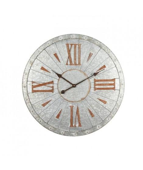 CLEP Horloge murale effet métal - Acier - Ø68x3 cm