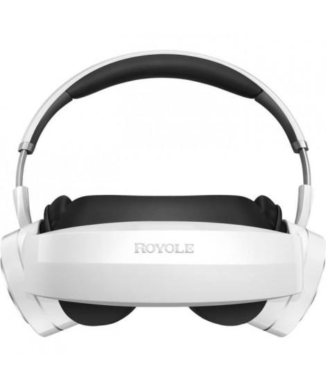 ROYOLE Casque de vidéo 3D et réalité virtuelle MOON - AMOLED x2 - 60Hz - RAM 32Go - Champ de vision 53° - Blanc