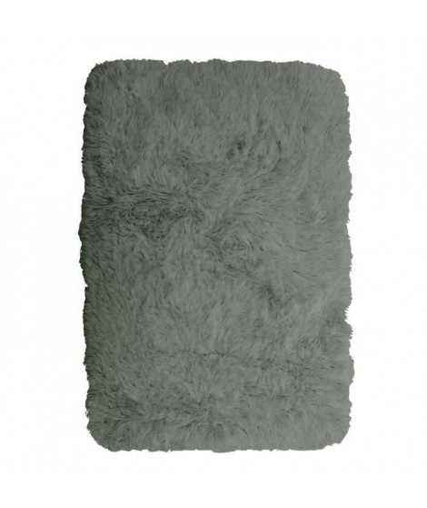 NEO YOGA Tapis de salon ou chambre - Microfibre extra doux - 60x90 cm - Gris clair