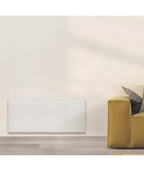 AIRELEC COXY A694225 Radiateur a Inertie Réfractite - Bas 1500W - Coloris Blanc - Fabrication Française - Programmable