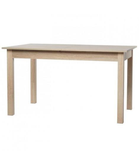 COBURG Table a manger extensible de 6 a 10 personnes classique décor chene - L 137-177 x l 80 cm