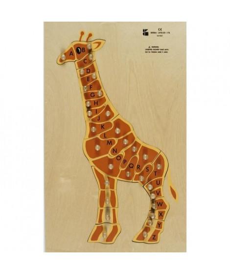 BSM Jouet d'encastrement ABC La Girafe