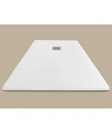 MITOLA Receveur de douche rectangulaire a poser Liwa - 180 x 90 cm - Résine composite - Blanc