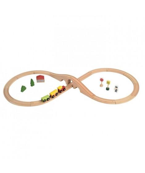 COLORICHY - Circuit train pour enfant en bois