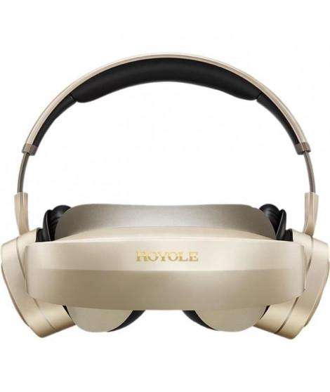 ROYOLE Casque de vidéo 3D et réalité virtuelle MOON - AMOLED x2 - 60Hz - RAM 32Go - Champ de vision 53° - Or