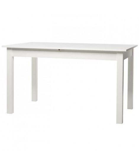 COBURG Table a manger extensible de 6 a 10 personnes classique blanc - L 137-177 x l 80 cm