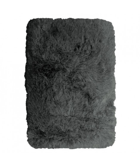 NEO YOGA Tapis de salon ou chambre - Microfibre extra doux - 60x90 cm - Gris foncé