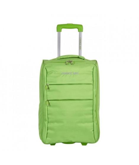 FRANCE BAG Valise Cabine Low Cost Souple 2 Roues 34cm vert