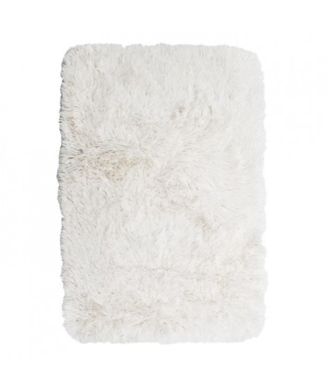 NEO YOGA Tapis de salon ou chambre - Microfibre extra doux - 60x90 cm - Blanc