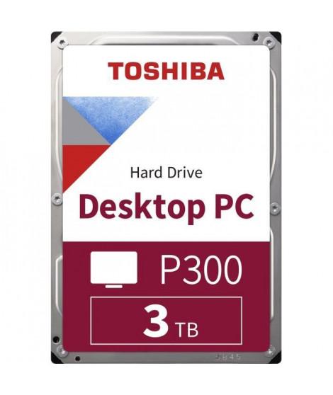 TOSHIBA - Disque dur Interne - P300 - 3To - 7 200 tr/min - 3.5 (HDWD130UZSVA)