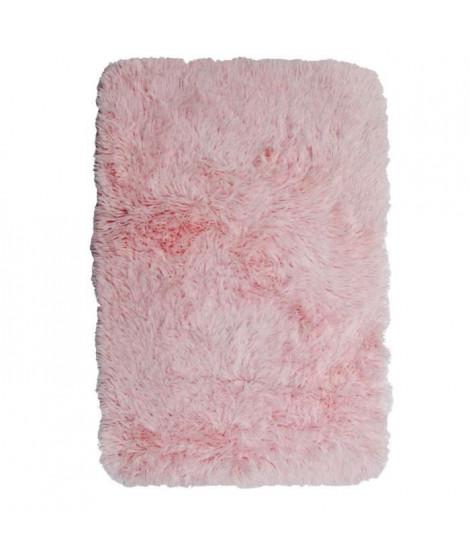 NEO YOGA Tapis de salon ou chambre - Microfibre extra doux - 60x90 cm - Rose