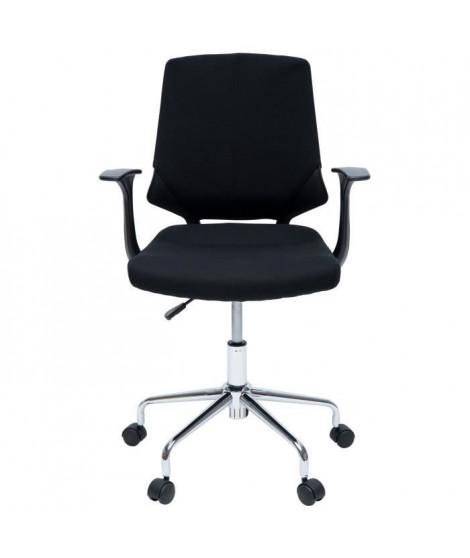 SENTO Chaise de bureau - Tissu noir - Contemporain - L 61 x P 55 cm