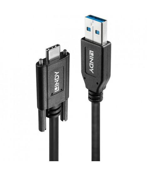 LINDY Câble USB 3.1 A/C avec deux vis, 1m