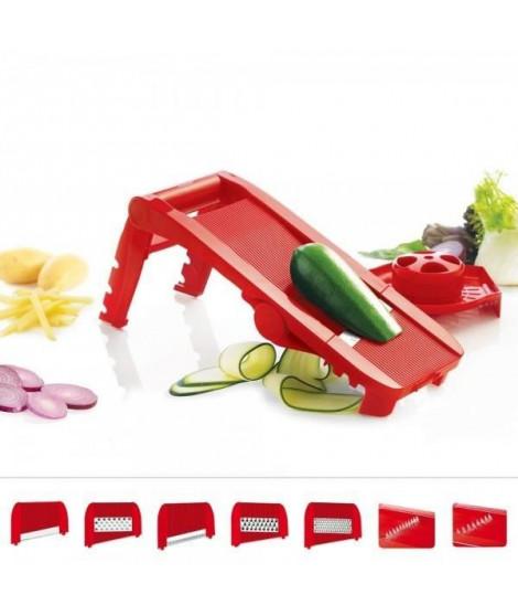 MASTRAD F21010 - Mandoline multi lames et râpes - Rouge
