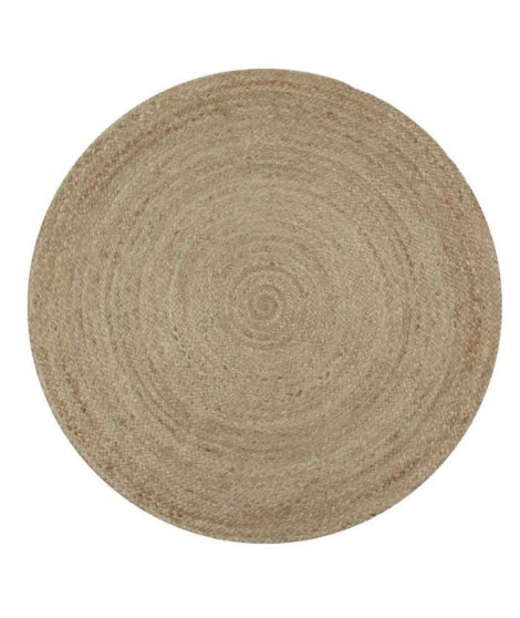 FULL Tapis de salon ou chambre - Jute - Ø 70 cm - Naturel