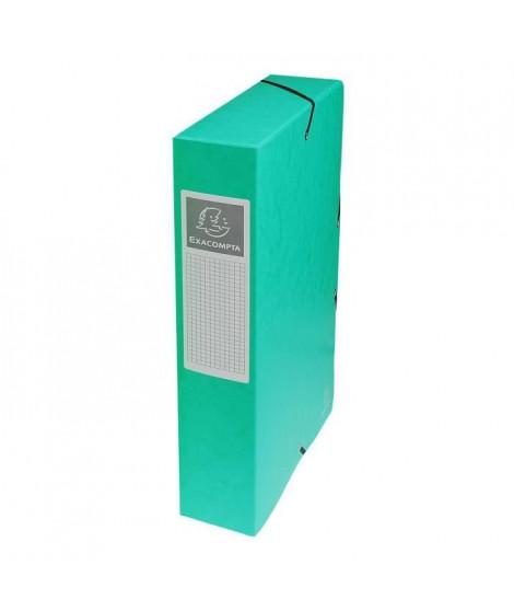 EXACOMPTA - Boite de classement a élastique - Dos 60mm - 24 x 32 - Carte lustrée F.S.C 7/10eme - Couleur verte