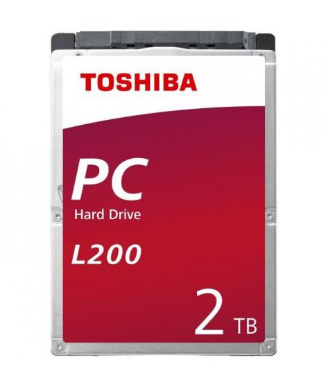 TOSHIBA - Disque dur Interne - L200 - 2To - 5 400 tr/min - 2.5 (HDWL120EZSTA)
