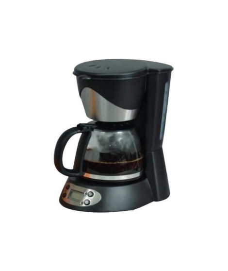 KITCHEN CHEF KSMD230T Cafetiere - 6 tasses - Inox/Noir