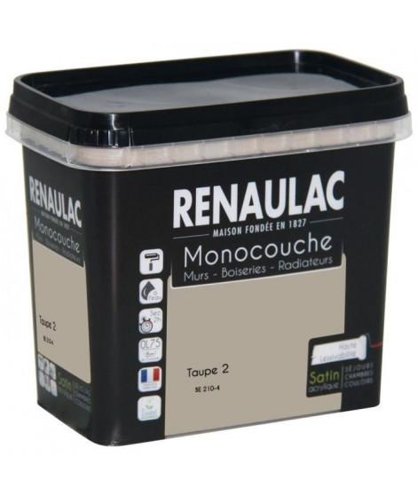 Peinture murale monocouche multi-support 0,75 L taupe satin Murs / Boiseries / Radiateurs - RENAULAC
